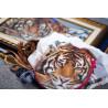 Пример отшивания Амурский тигр Ткань с рисунком Матренин посад