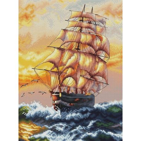 Под парусами Набор для вышивания Белоснежка