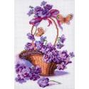 Корзинка с цветами Канва с рисунком для вышивки Матренин посад