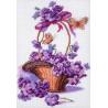 Корзинка с цветами Ткань с рисунком Матренин посад