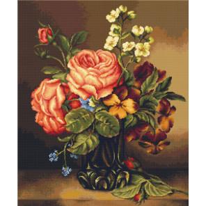 Ваза с розами и цветами Набор для вышивания Luca-S B491