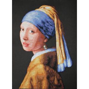 Девушка с жемчужной сережкой Набор для вышивания Luca-S B467