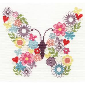 Цветочная бабочка Набор для вышивания Bothy Threads XB2
