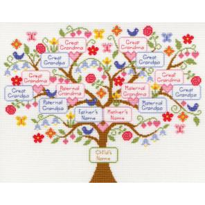 Семейное дерево Набор для вышивания Bothy Threads XBD1
