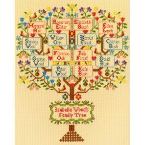 Традиционное семейное дерево Набор для вышивания Bothy Threads XBD2