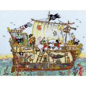 Пиратский корабль Набор для вышивания Bothy Threads XCT7