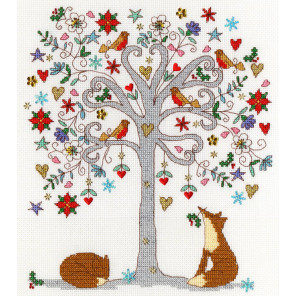Любимая зима Набор для вышивания Bothy Threads XKA13