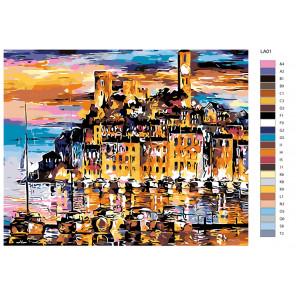 Раскладка Франция, Канны Раскраска по номерам акриловыми красками на холсте Живопись по номерам