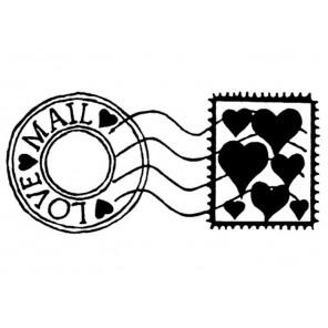 Почтовая марка Силиконовый штамп Stamperia