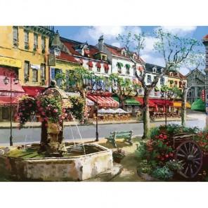 Европейский городок Раскраска по номерам акриловыми красками на холсте Живопись по номерам