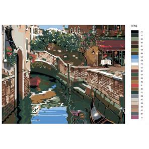 Схема Венецианские огни (репродукция Роберта Пежмана) Раскраска по номерам на холсте Живопись по номерам