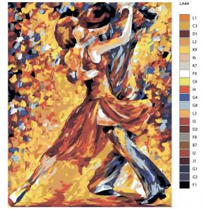 схема Танец (художник Леонид Афремов) Раскраска по номерам на холсте Живопись по номерам