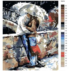 Раскладка Романтика Раскраска по номерам акриловыми красками на холсте Живопись по номерам