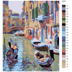 Схема Романтическая Венеция (художник Говард Беренс) Раскраска по номерам на холсте Живопись по номерам