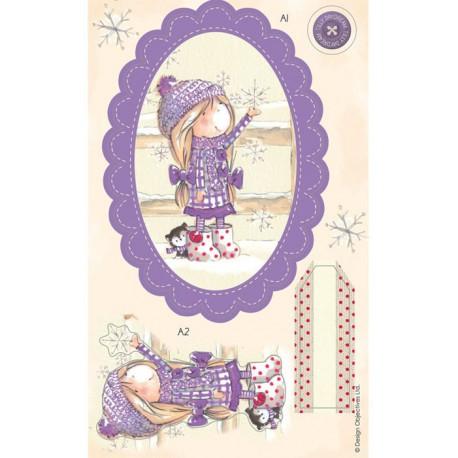 Снежинка Набор высеченных элементов Tilly Daydream Docrafts