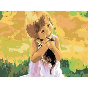 2 Малышка Раскраска по номерам на холсте Живопись по номерам