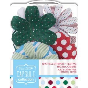 Цветы Spots & Stripes Festive Украшение для скрапбукинга, кардмейкинга Docrafts