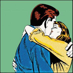 Раскладка Поцелуй Раскраска картина по номерам на холсте PA36