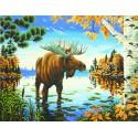 Величественный лось Раскраска (картина) по номерам Dimensions