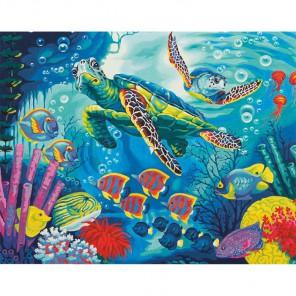 Морские черепахи Раскраска (картина) по номерам акриловыми красками Dimensions
