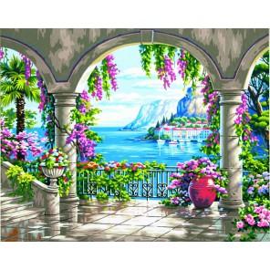 Цветочное патио Раскраска (картина) по номерам акриловыми красками Dimensions