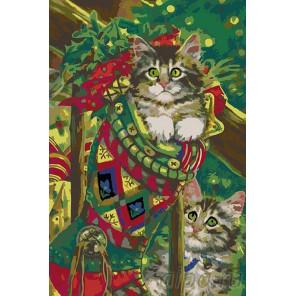 Раскладка Рождественские подарки Раскраска картина по номерам на холсте A99