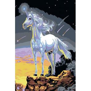 Раскладка Единорог Раскраска картина по номерам на холсте RA047