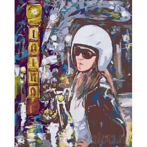 Поездка на мотоцикле Раскраска картина по номерам на холсте LV11