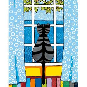 Весна за окном Раскраска картина по номерам на холсте A277