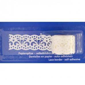 Филигрань белая 24 мм х 200 см Бумажное кружево самоклеющееся Heyda