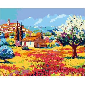 Яркий Прованс Раскраска картина по номерам на холсте FR08