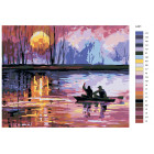 Раскладка Двое в лодке Раскраска картина по номерам на холсте LA21