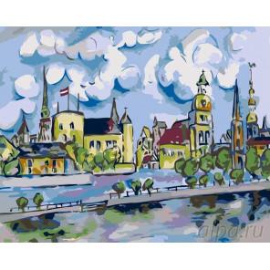 Австрийский городок Раскраска картина по номерам на холсте LV15