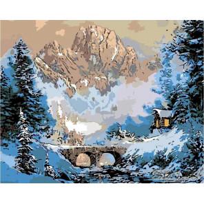 Мостик в горах Раскраска картина по номерам на холсте NB07