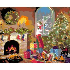 Раскладка Накануне Рождества Раскраска картина по номерам на холсте NB02