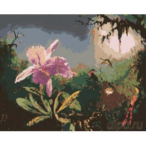 Закатный цвет Раскраска картина по номерам на холсте RA004