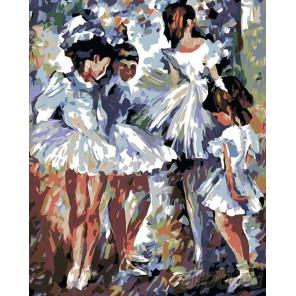 Раскладка Юные балерины Раскраска картина по номерам на холсте LA48