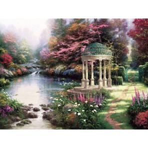 Умиротворенный сад Раскраска картина по номерам акриловыми красками Plaid