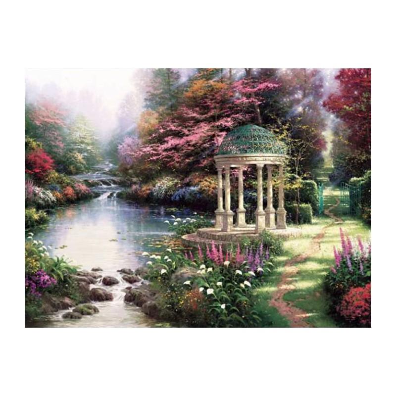 Умиротворенный сад Раскраска картина по номерам Plaid ...
