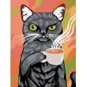 Утренний чай Раскраска картина по номерам на холсте A130
