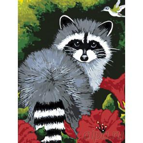 Раскладка Енотик Раскраска картина по номерам на холсте A285