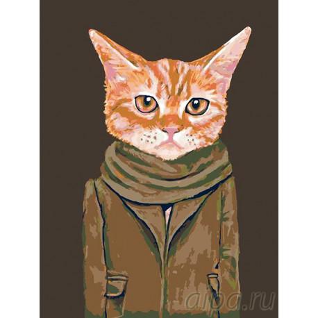 В осеннем пальто Раскраска картина по номерам на холсте A298