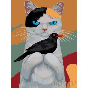 Раскладка Друзья Раскраска картина по номерам на холсте A300