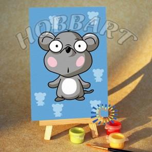 Мышонок Раскраска по номерам акриловыми красками на холсте Hobbart