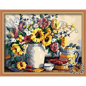 Солнечно-летний букет Раскраска по номерам акриловыми красками на холсте Hobbart