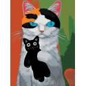 Любимая игрушка-котик Раскраска картина по номерам на холсте A352