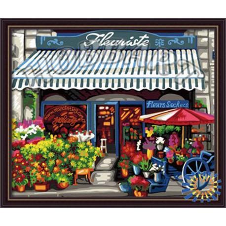 Уголок флориста Раскраска по номерам акриловыми красками на холсте Hobbart