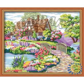 Цветочная идиллия Раскраска по номерам акриловыми красками на холсте Hobbart