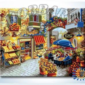 Кафе у цветочной арки Раскраска по номерам на холсте Hobbart