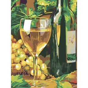 Белое вино Раскраска картина по номерам на холсте N01